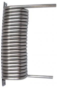 Kühlschlange und Beruhigungsschlange Edelstahl eckig 7mm Durchmesser